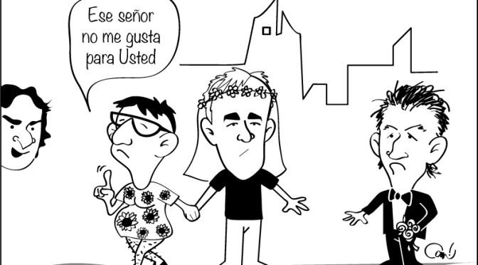 Caricatura sobre el fin del matrimonio de «Los Federicos»
